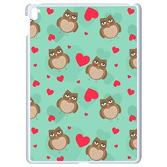 Owl Valentine s Day Pattern Apple Ipad Pro 9 7   White Seamless Case by allthingseveryday