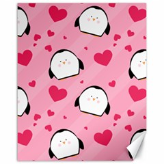 Penguin Love Pattern Canvas 16  X 20   by allthingseveryday