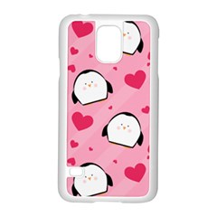 Penguin Love Pattern Samsung Galaxy S5 Case (white) by allthingseveryday