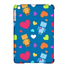 Robot Love Pattern Apple Ipad Mini Hardshell Case (compatible With Smart Cover) by allthingseveryday