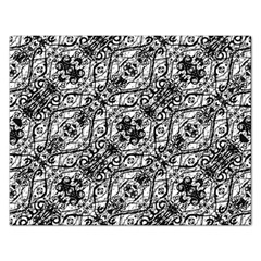 Black And White Ornate Pattern Rectangular Jigsaw Puzzl by dflcprints