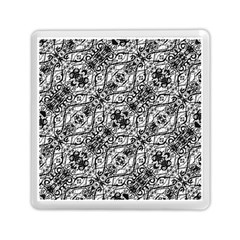 Black And White Ornate Pattern Memory Card Reader (square)  by dflcprints