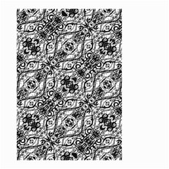 Black And White Ornate Pattern Small Garden Flag (two Sides) by dflcprints