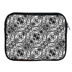 Black And White Ornate Pattern Apple Ipad 2/3/4 Zipper Cases by dflcprints