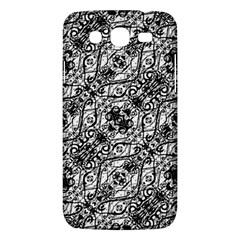 Black And White Ornate Pattern Samsung Galaxy Mega 5 8 I9152 Hardshell Case  by dflcprints