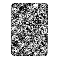Black And White Ornate Pattern Kindle Fire Hdx 8 9  Hardshell Case by dflcprints