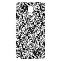 Black And White Ornate Pattern Galaxy Note 4 Back Case by dflcprints