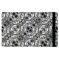 Black And White Ornate Pattern Apple Ipad Pro 9 7   Flip Case by dflcprints