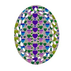 Love In Eternity Is Sweet As Candy Pop Art Oval Filigree Ornament (two Sides) by pepitasart