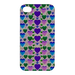 Love In Eternity Is Sweet As Candy Pop Art Apple Iphone 4/4s Hardshell Case by pepitasart