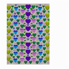 Love In Eternity Is Sweet As Candy Pop Art Large Garden Flag (two Sides) by pepitasart