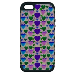 Love In Eternity Is Sweet As Candy Pop Art Apple Iphone 5 Hardshell Case (pc+silicone) by pepitasart