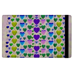 Love In Eternity Is Sweet As Candy Pop Art Apple Ipad 3/4 Flip Case by pepitasart
