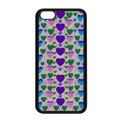Love In Eternity Is Sweet As Candy Pop Art Apple Iphone 5c Seamless Case (black) by pepitasart