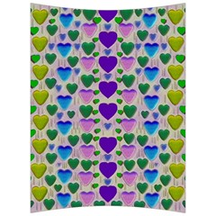 Love In Eternity Is Sweet As Candy Pop Art Back Support Cushion by pepitasart
