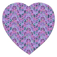 Sacred Geometry Pattern 2 Jigsaw Puzzle (heart) by Cveti