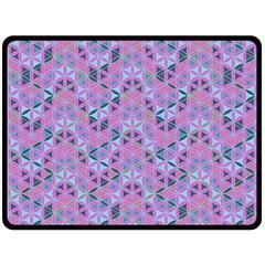 Sacred Geometry Pattern 2 Double Sided Fleece Blanket (large)  by Cveti