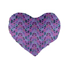 Sacred Geometry Pattern 2 Standard 16  Premium Flano Heart Shape Cushions by Cveti