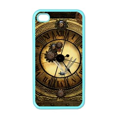 Wonderful Steampunk Desisgn, Clocks And Gears Apple Iphone 4 Case (color) by FantasyWorld7