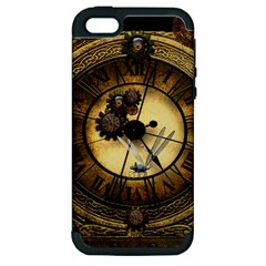 Wonderful Steampunk Desisgn, Clocks And Gears Apple Iphone 5 Hardshell Case (pc+silicone)