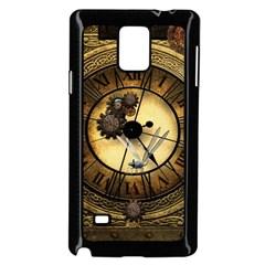 Wonderful Steampunk Desisgn, Clocks And Gears Samsung Galaxy Note 4 Case (black) by FantasyWorld7