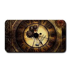 Wonderful Steampunk Desisgn, Clocks And Gears Medium Bar Mats by FantasyWorld7