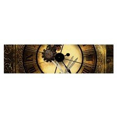 Wonderful Steampunk Desisgn, Clocks And Gears Satin Scarf (oblong) by FantasyWorld7