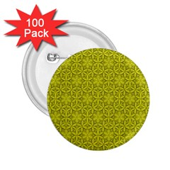 Flower Of Life Pattern Lemon Color  2 25  Buttons (100 Pack)  by Cveti