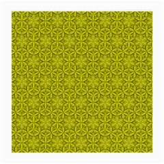 Flower Of Life Pattern Lemon Color  Medium Glasses Cloth by Cveti