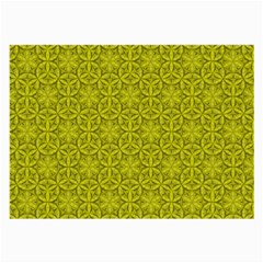 Flower Of Life Pattern Lemon Color  Large Glasses Cloth (2 Side) by Cveti