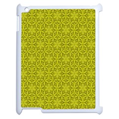 Flower Of Life Pattern Lemon Color  Apple Ipad 2 Case (white) by Cveti