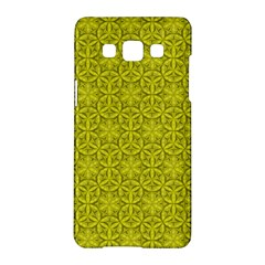 Flower Of Life Pattern Lemon Color  Samsung Galaxy A5 Hardshell Case  by Cveti