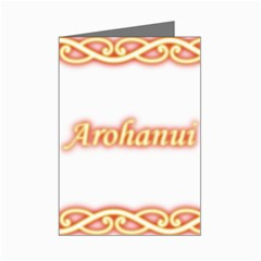 Arohanui with  Patiki Greeting Card by MaoriCreations