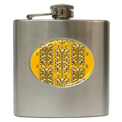 Rain Showers In The Rain Forest Of Bloom And Decorative Liana Hip Flask (6 Oz) by pepitasart