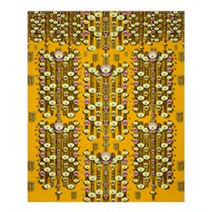 Rain Showers In The Rain Forest Of Bloom And Decorative Liana Shower Curtain 60  X 72  (medium)  by pepitasart