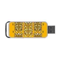 Rain Showers In The Rain Forest Of Bloom And Decorative Liana Portable Usb Flash (one Side) by pepitasart