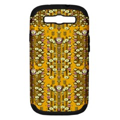 Rain Showers In The Rain Forest Of Bloom And Decorative Liana Samsung Galaxy S Iii Hardshell Case (pc+silicone) by pepitasart