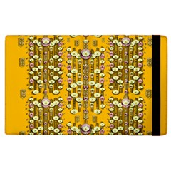 Rain Showers In The Rain Forest Of Bloom And Decorative Liana Apple Ipad 3/4 Flip Case by pepitasart