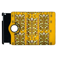 Rain Showers In The Rain Forest Of Bloom And Decorative Liana Apple Ipad 3/4 Flip 360 Case by pepitasart
