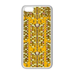 Rain Showers In The Rain Forest Of Bloom And Decorative Liana Apple Iphone 5c Seamless Case (white) by pepitasart