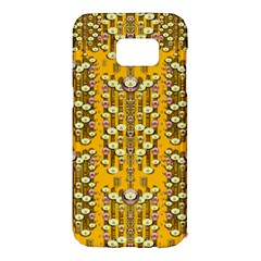 Rain Showers In The Rain Forest Of Bloom And Decorative Liana Samsung Galaxy S7 Edge Hardshell Case
