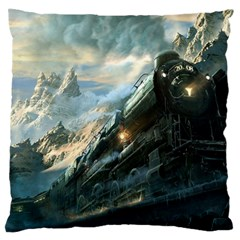 Rockies Express Large Flano Cushion Case (one Side) by allthingseveryday