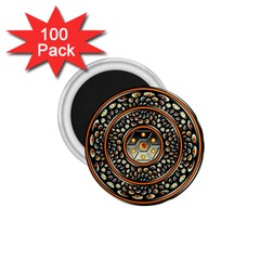 Dark Metal And Jewels 1 75  Magnets (100 Pack)  by linceazul