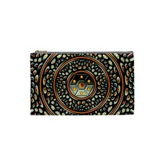 Dark Metal And Jewels Cosmetic Bag (small)  by linceazul