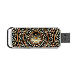 Dark Metal And Jewels Portable Usb Flash (two Sides) by linceazul
