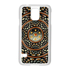 Dark Metal And Jewels Samsung Galaxy S5 Case (white) by linceazul