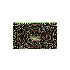 Dark Metal And Jewels Cosmetic Bag (xs) by linceazul