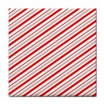 Candy Cane Stripes Tile Coasters