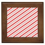 Candy Cane Stripes Framed Tiles