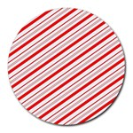 Candy Cane Stripes Round Mousepads